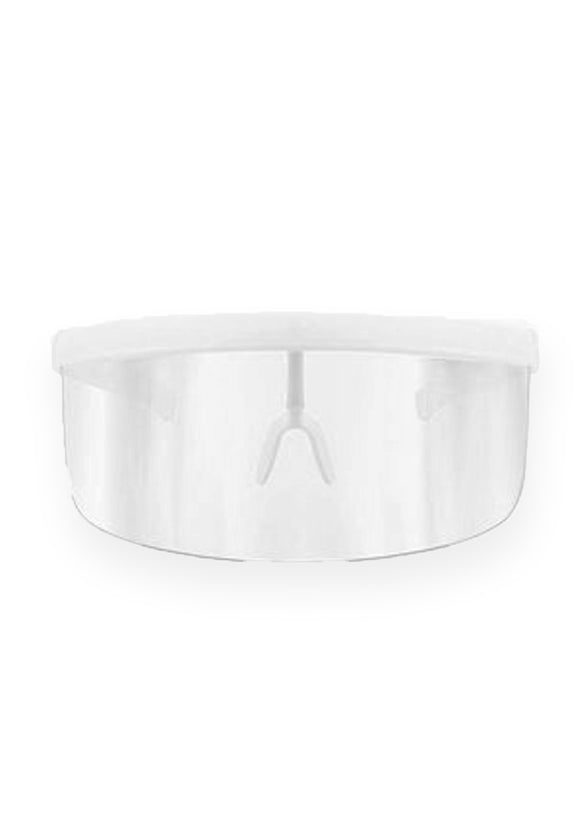 Protective Eye Shield Visor (White Frame, Clear Shield)