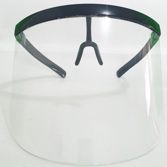 Full Face Shield (Black Frame, Clear Shield)