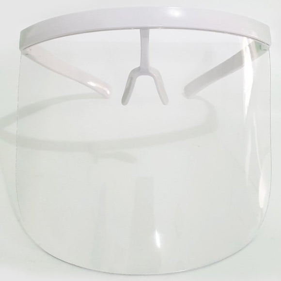 Full Face Shield (White Frame, Clear Shield)