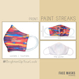 Adult Face Mask - Paint Streaks