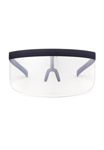 Protective Eye Shield Visor (Black Frame, Clear Shield)