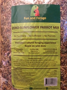 FREE sample pack of Fun and Forage Sunflower-Free Healthy Parrot Mix