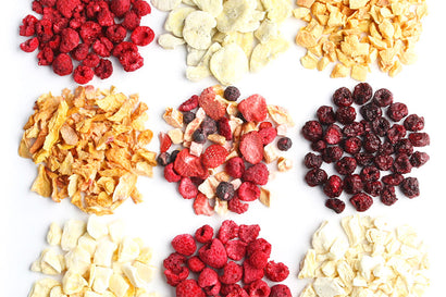 Colourful And Nutritious Freeze-Dried Fruits.