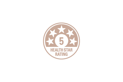 5-Star Health Rating Icon.