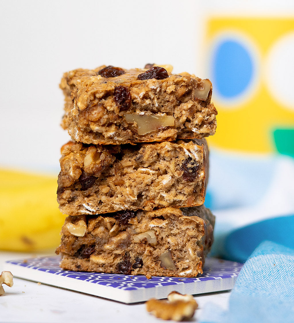 Banana Protein Oat Bar - Suggested Presentation.