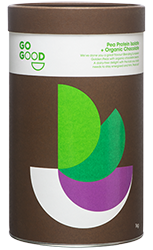 Go Good Organic Chocolate Pea Protein Powder.