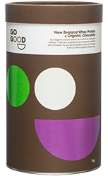 Go Good Organic Chocolate Whey Protein Powder.