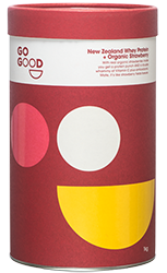Go Good Organic Strawberry Whey Protein Powder.
