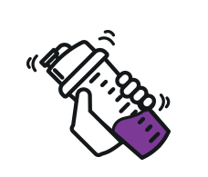 Purple Shaker Icon.