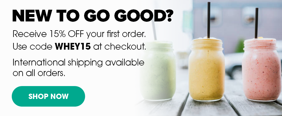 Receive 15% Off Your First Order With Code WHEY15.