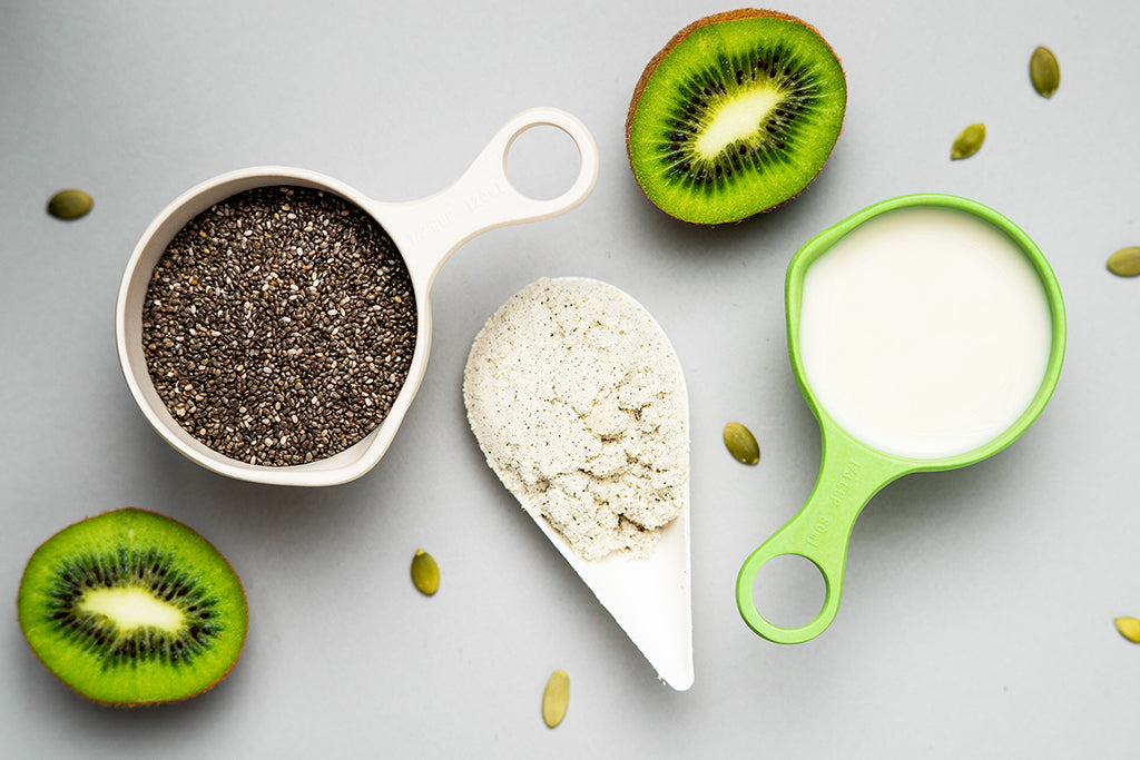 Vanilla Protein Chia Pudding - Ingredients.