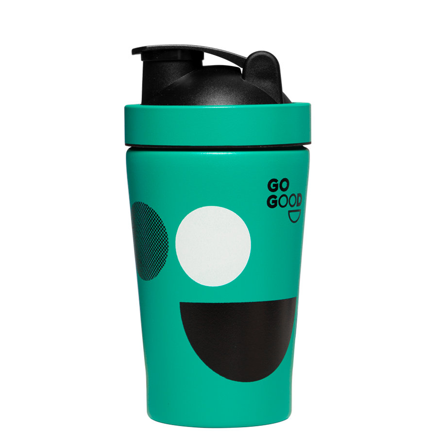 Go Good Green Stainless Steel Protein Shaker.