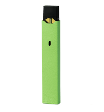 Granny Smith Green Leather Juul Sleeve with Fruit Stickers