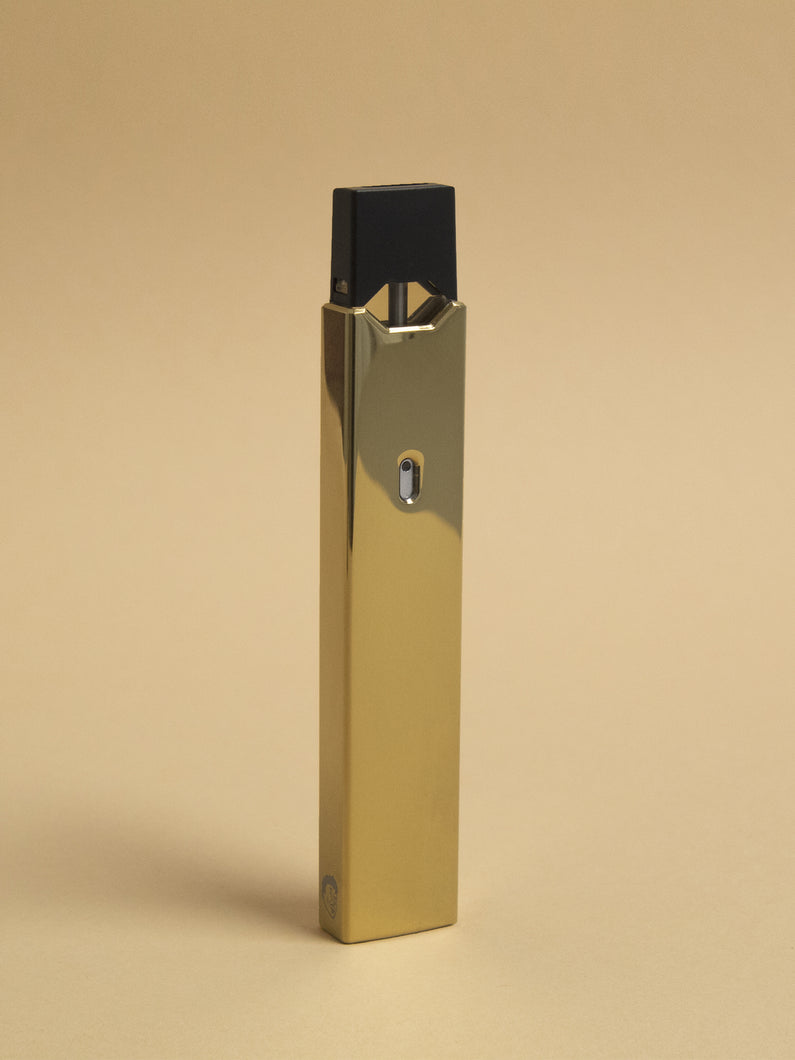 Polished Gold Juul Sleeve-GLDMETSLE