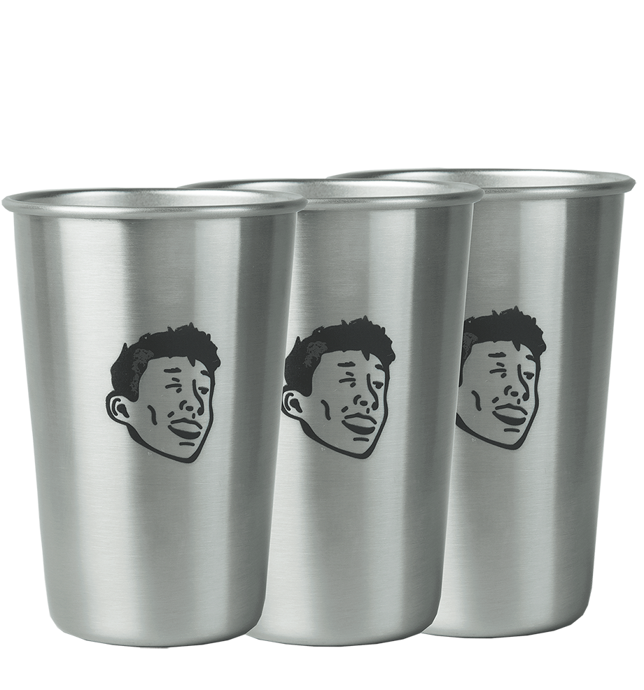 Lucky Strike Stainless Steel Cups