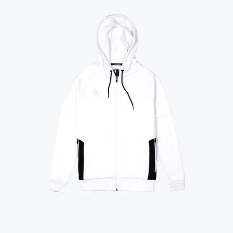 MENS TRAINING ZIP HOODIE - WHITE