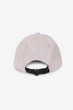 Osaka Baseball Cap Grey Suede Back View