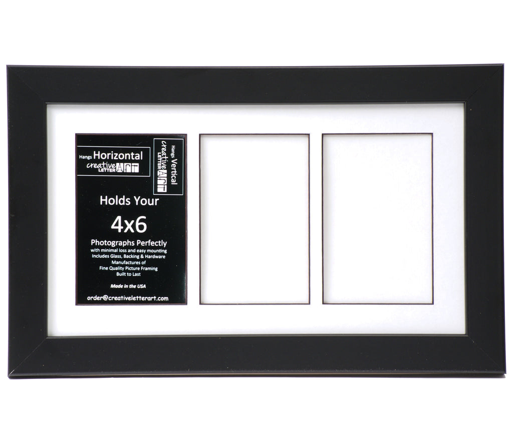 4x6-inch 2-9 Opening Small Black Picture Frame ...