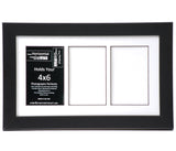 4x6-inch 2-9 Opening Small Black Picture Frame