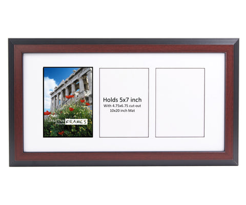 5x7-inch 3-8 Opening Mahogany Picture Frame