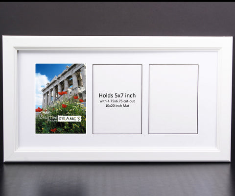5x7-inch 3-8 Opening White Picture Frame