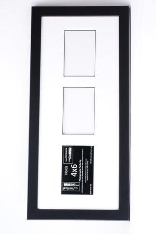4x6-inch 2-6 Opening Black Vertical Picture Frame