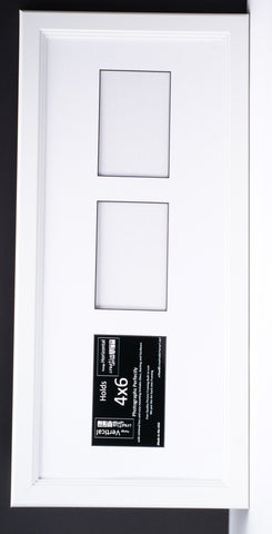 4x6-inch 2-6 Opening White Vertical Picture Frame