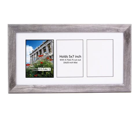 5x7-inch 3-8 Opening Driftwood Picture Frame