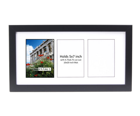 5x7-inch 3-8 Opening Black Picture Frame