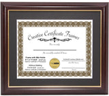 Mahogany with Gold Diploma Frame with Mat