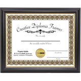 Black with Gold Diploma Frame