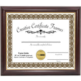 Mahogany with Gold Diploma Frame