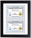 5.5x8.5 Double License Frame with Mat