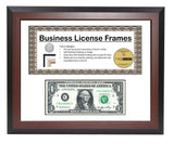 First Dollar with 3.5x8.5 License Frame with Mat