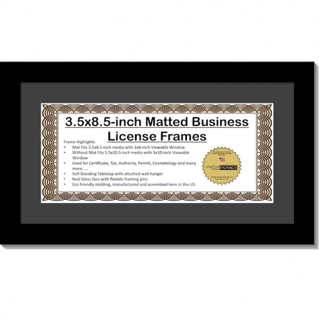 3.5x8.5 License Frame with Mat – creativepictureframes.com