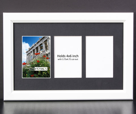 4x6 Inch 3 12 Opening White Picture Frame Creativepictureframescom