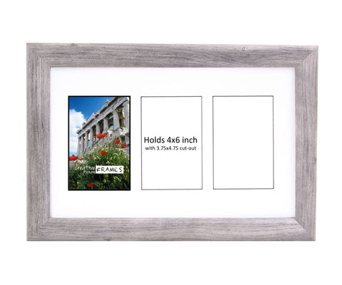 4x6-inch 2-14 Opening Driftwood Picture Frame