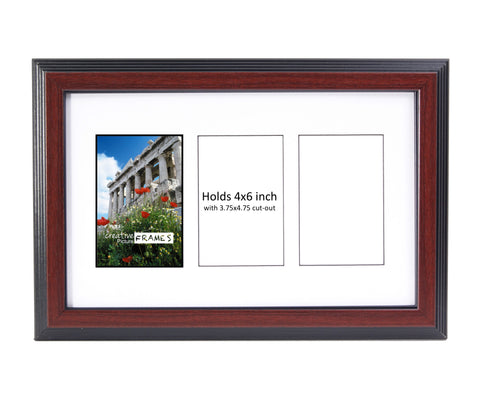 4x6-inch 3-14 Opening Mahogany Picture Frame