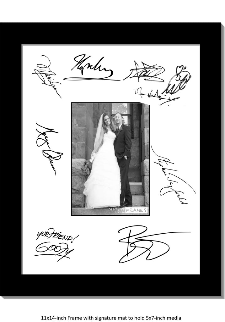 11x14 Signature Board For 20 Signatures Creativepictureframescom