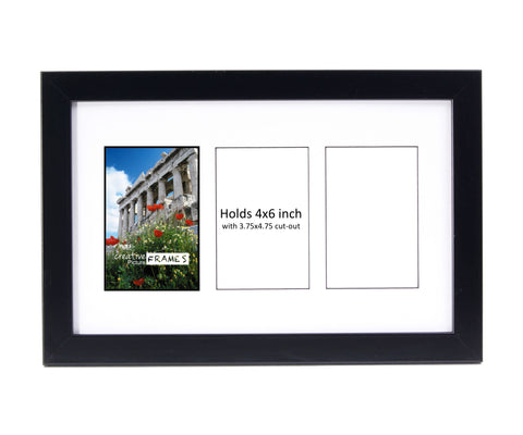 4x6-inch 2-14 Opening Black Picture Frame