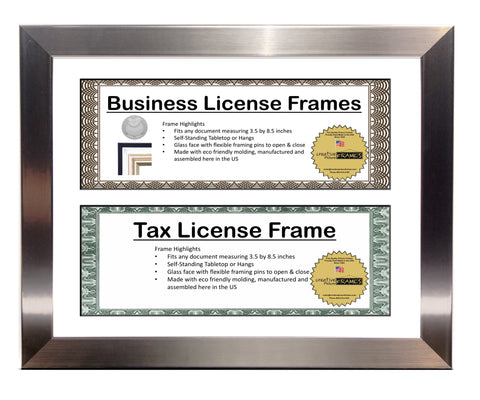 3.5x8.5 Double License Frame with Mat – creativepictureframes.com