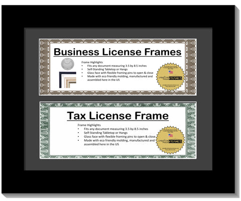 3 5x8 5 Double License Frame with Mat – creativepictureframes com
