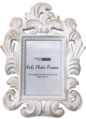 Trapani Decorative White 3.60 x 5.25  Picture Frame