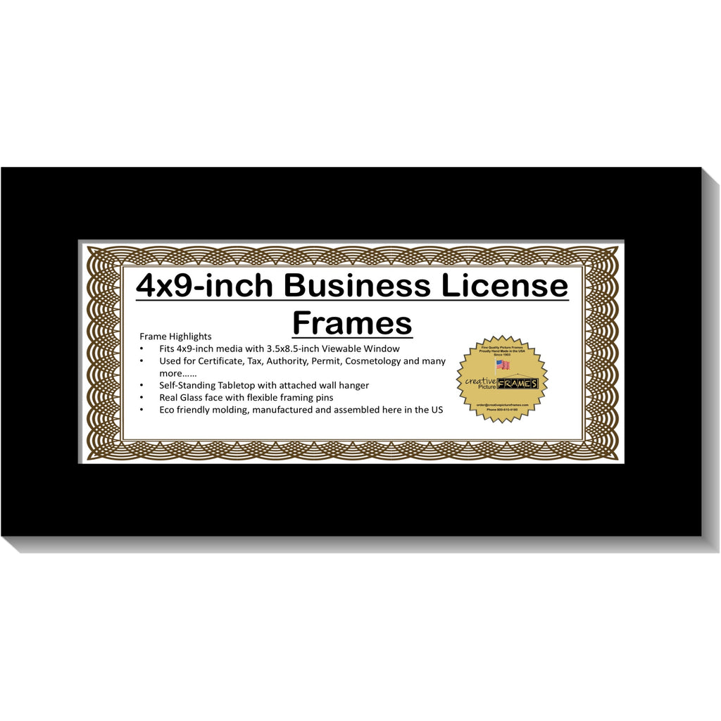 4x9 License Frame Creativepictureframescom