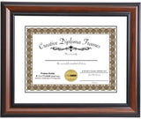 Walnut Diploma Frame with Mat