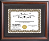 Eco-Walnut Diploma Frame with Mat