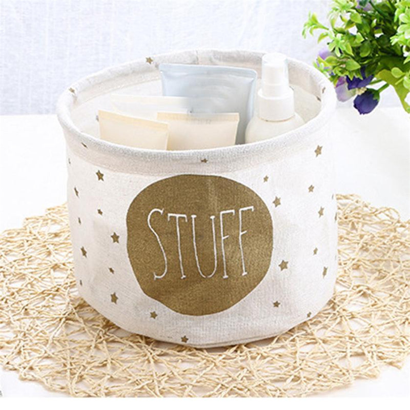Cotton Linen Baby Organiser or Baby Shower Gift Basket