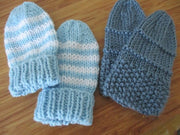 Hand Knitted Mittens, 4 colours