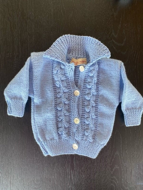 Merino, Handknitted 3-6mths Jacket