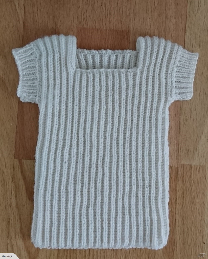 Lilyrose's Baby Merino Singlet/Vest 0-6 mths. Also Available in Prem Baby